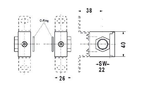 anschlussplatten set variobloc 1 4 mit halter ebay. Black Bedroom Furniture Sets. Home Design Ideas