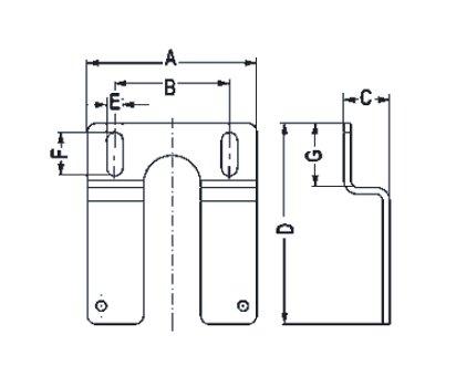 halterbefestigung variobloc 1 2 und 3 4 ebay. Black Bedroom Furniture Sets. Home Design Ideas